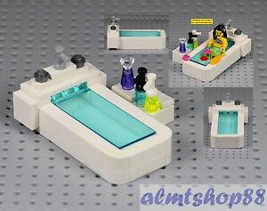 Lego Bathtub W Shampoo Soap Bottle Spa Bathroom