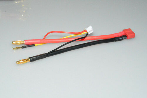 4mm Bullet Banana to Female Deans T-Plug LiPo Battery Lead Wire /& JST-XH Balance