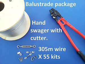 55x-BALUSTRADE-KITS-316-STAINLESS-STEEL-305m-WIRE-ROPE-SWAGER-TOOL-TURNBUCKLES
