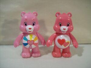 LOT-OF-2-CARE-BEARS-PVC-3-034-ACTION-FIGURES-LOVE-A-LOT-BEAR-amp-HOPEFUL-BEAR-JAKKS