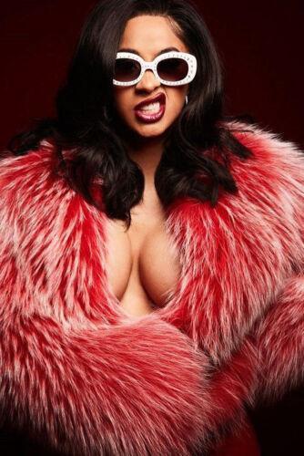 N-860 Cardi B American Fashion Female Rapper6 Fabric POSTER 20x30 24x36
