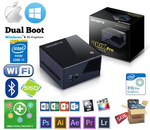 Hackintosh Gigabyte Brix Intel Core i7 up to 16GB 240GB SSD Mac Mini