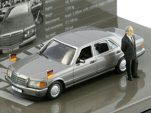 Minichamps MERCEDES 500 SEL WITH DR. HELMUT KOHL 143Back in Stock