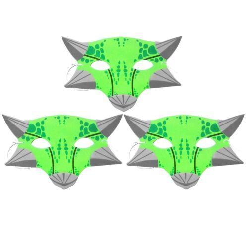 Set of 3 Green Ankylosaurus Foam Dinosaur Childrens Masks by Blue Frog Toys