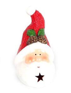 LIGHT-Up-LED-TERRACOTTA-Babbo-Natale-Babbo-Natale-Decorazione-Ornamentale