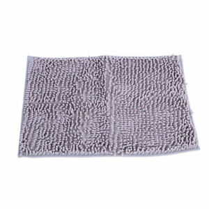 Intbuying Non Slip Microfiber Shag Bathroom Rugs Bath Mats Shower Rug    Dark 20