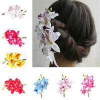 Bridal Flower Hairpin Brooch Wedding Bridesmaid Party Unique Hair Clip HGUK