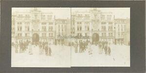 Venezia-Place-Sanit-Marc-Italia-snapshot-Foto-Stereo-Vintage-Citrato-c1900