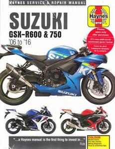 Details about 2006-2016 Suzuki GSX-R600 GSX-R750 Haynes Repair Service on