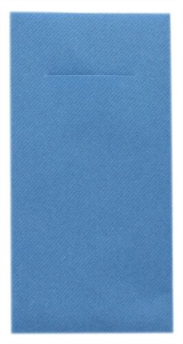 12 Besteckserviette Aquablau aus Linclass® Airlaid 40 x 40 cm Servietten Sommer