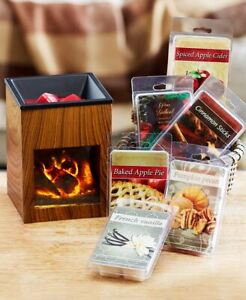 Fireplace-Tart-Wax-Warmer-Holder-or-36-Pc-Tart-Sampler-Candle-Melt-Fragrance