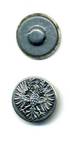 6 boutons bouton environ 23 mm Adler avec Couronne pour uniformes etc métal 2 trous ki2005