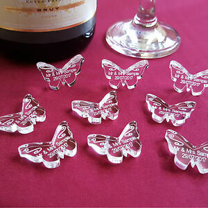 Image Is Loading Personalised Erfly Wedding Table Decorations Mr Mrs Acrylic