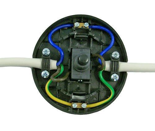 Noir dans la ligne 2 amp pied commutateur étage tableau lampe standard