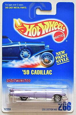 Modellbau SpäTester Style-Online-Verkauf Von 2019 50% WunderschöNen Hot Wheels 1991 Blau Karte ' 59 Cadillac #266 Lila 05 W