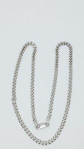 3083f30081a99 Details about 925 Sterling Silver 18 inch Cuban Link Chain Made In Italy