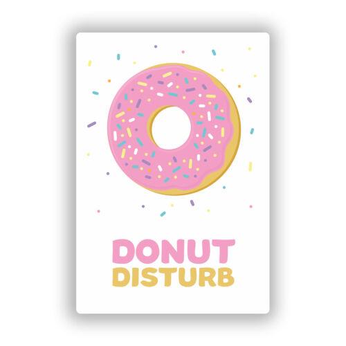 2 x Donut Disturb Vinyl Stickers Travel Luggage #10743