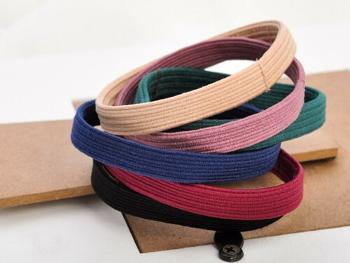 10pcs Black 7mm Flat Hair Ties Rope Elastic Rubber Bands Ponytail Holder