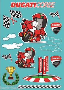 Ducati Corse Cartoon Decor Sticker Children S New Ebay