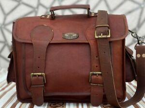 Men's Briefcase Genuine Leather Satchel Laptop Messenger Bag (Carrying Laptops)