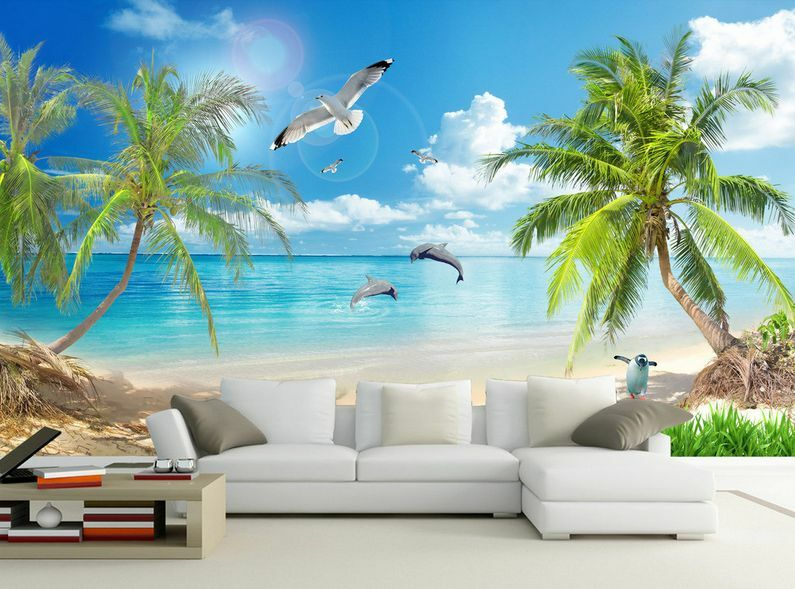 3D albero estate Parete Murale Foto Carta da parati immagine sfondo muro stampa