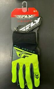 New-Fly-Men-039-s-Black-amp-Hi-Vis-F16-Race-Gloves-Medium-Large-XL-371-919