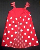 Gymboree Polka Dot Ladybug Red With White Polka Dot Sun Dress 3t 4t 5t