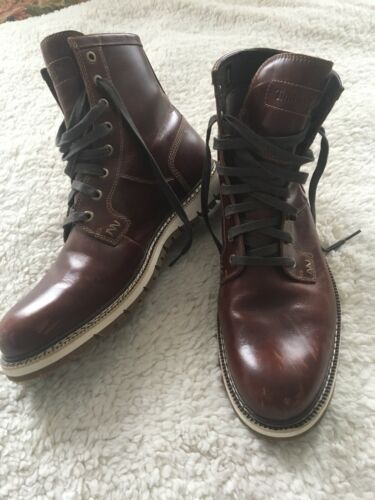 TIMBERLAND Brown Leather Lace Up Men's Boots A1842