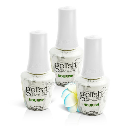 3 Bottles Harmony Gelish Nourish Cuticle Oil 0.5oz