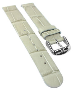 Alpha-Saphir-Wrist-Watch-Band-16mm-Leather-in-Crocodile-Skin-Look-Grey-19466