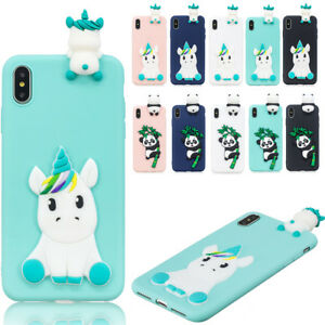 3D-Cute-Cartoon-Silicone-Soft-TPU-Rubber-Case-Cover-For-iPhone-X-XS-6s-7-8-Plus