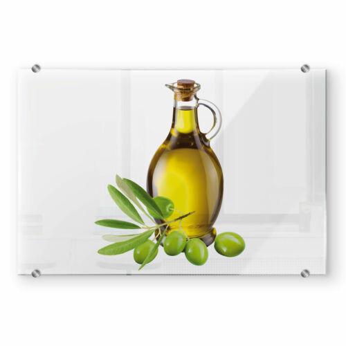 Spritzschutz Olives and a Bottle Transparent