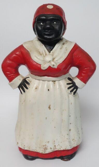 aunt jemima cast iron bank black americana woman figure doorstop