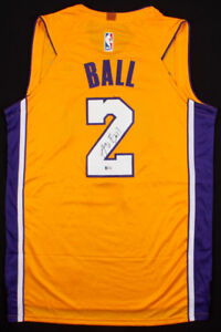 low priced dcebb 1f1d6 Details about Lonzo Ball Signed Lakers Jersey (Beckett COA) /#2 Overall  Pick 2017 NBA Draft
