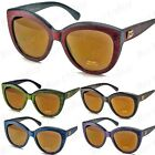 New DG Eyewear Cat Eye Womens Sunglasses Designer Fashion Shades Wood Print 423