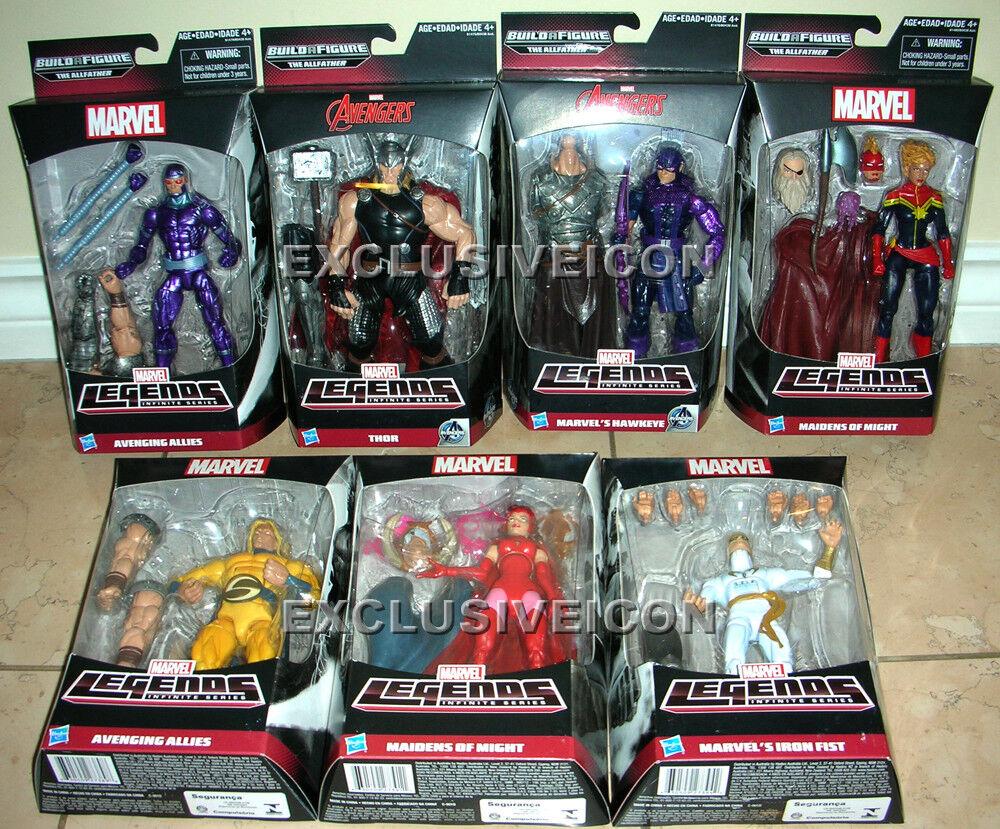 Marvel Legends 2015 Infinite Avengers The Allfather BAF Odin Set of 7 Canadian