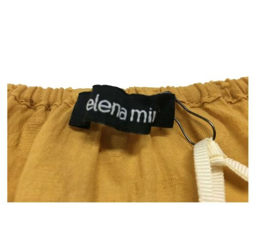 100 Elena Donna Senape 3 Mirò Camicia Manica Cotone 4 rrgw0zqp