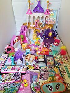 Mlp-My-Little-Pony-Job-Lot-HUGE-Bundle-Collection-Ponies-castle-barn-Hasbro