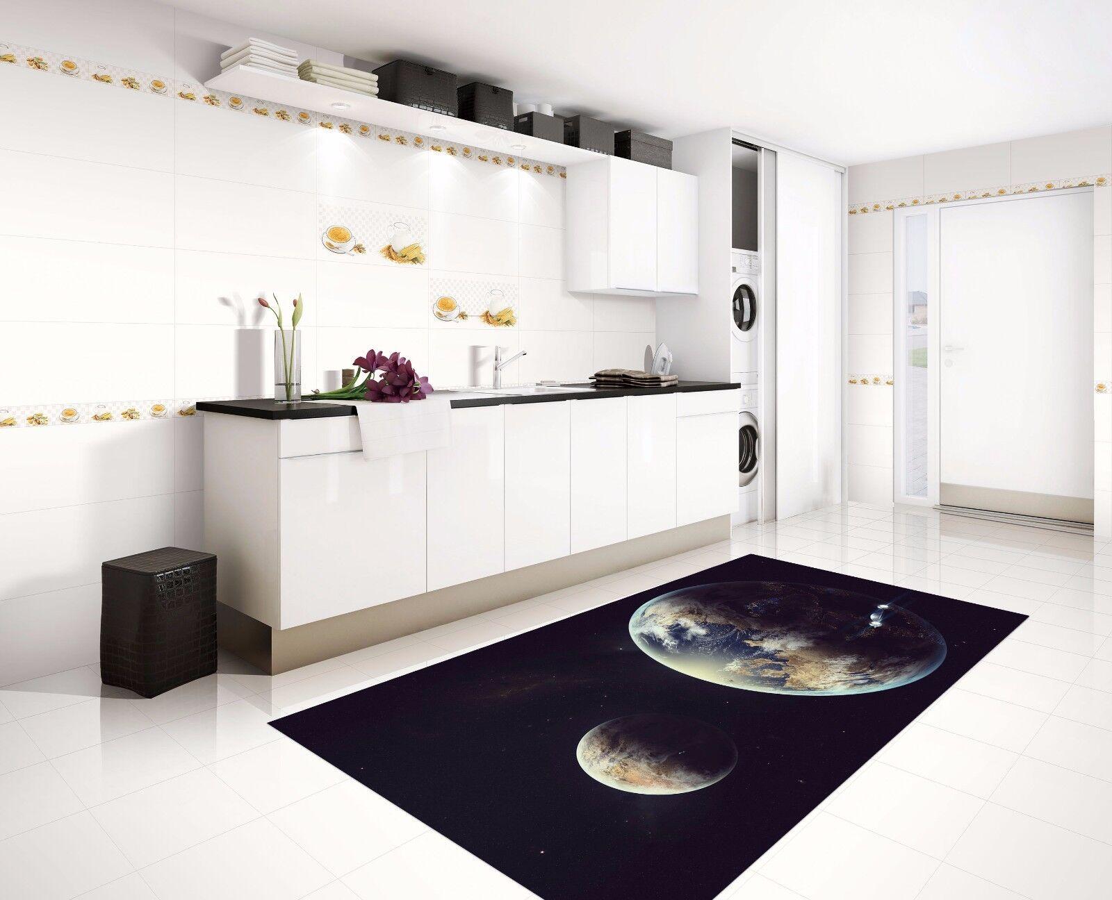 3D Glaxy Earth 74 Kitchen Mat Floor Murals Wall Print Wall AJ WALLPAPER UK Kyra
