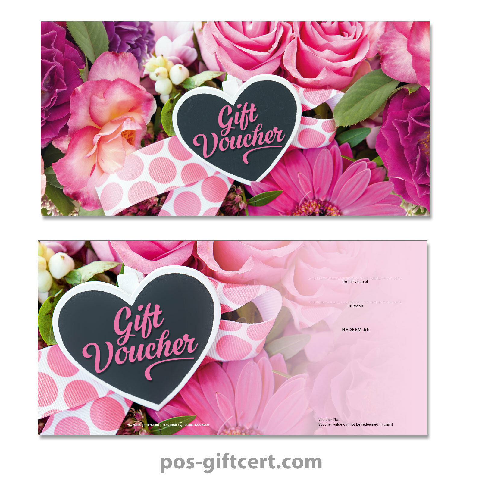 Universal gift vouchers + envelopes for all occasions, flowers flowers flowers BL9244GB 869268