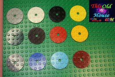 Medium Azure x4 Lego Plate Round Full Circle 4x4 60474