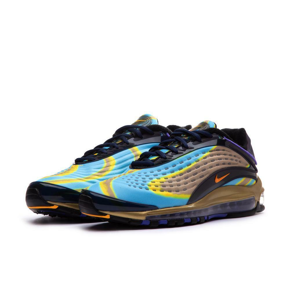 Nike air noi max deluxe blu / oro noi air uomini scarpa dimensioni aj7831-400 77a479