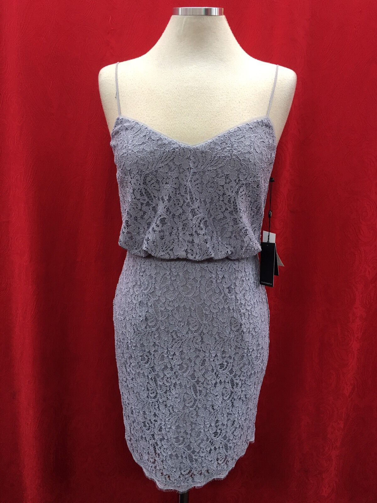 ADRIANNA PAPELL DRESS  NEW WITH TAG SIZE 14 RETAIL LACE DRESS LENGTH 37