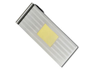 Mens-Stainless-Steel-Gold-Plated-Money-Clip