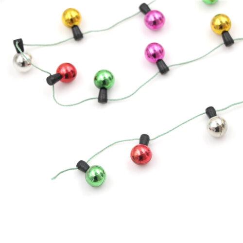 1 M Casa de muñecas en miniatura una cadena de plástico Navidad Luces Multicolores
