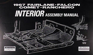 1967-Comet-Capri-Cyclone-Caliente-Interior-Assembly-Manual-67-Mercury-Factory