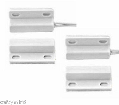 """Brand New """"2""""  Honeywell 943WG-WH Mini Magnetic Contact w/ Leads, White"""
