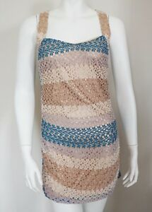 8274ff686d NWT MISSONI MARE Multi-Colored CROCHET KNIT Cover-Up Beach Dress IT ...