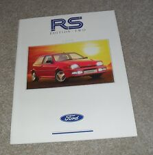 Ford RS Brochure 1990 Ed 2 Fiesta Escort RS Turbo Sierra RS Cosworth 4X4 Saloon