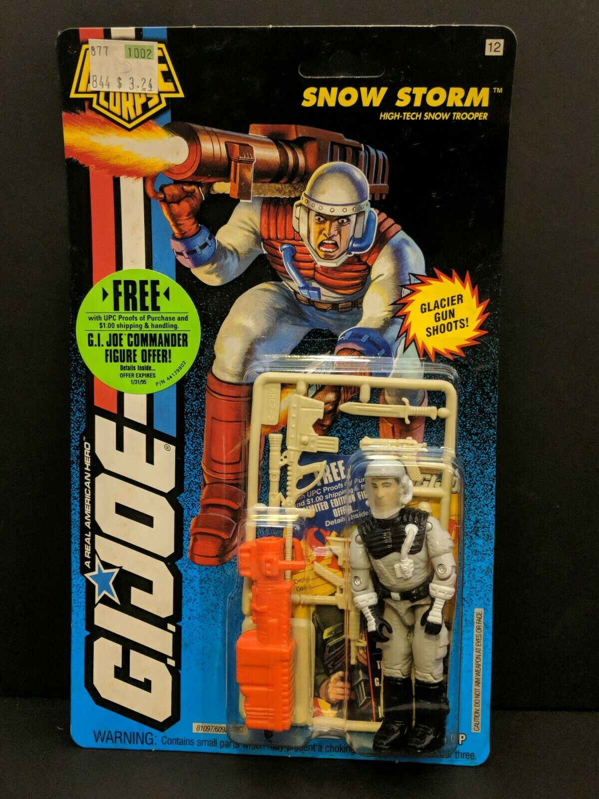 Vintage 1994 Hasbro GI Joe battle Corps SNOW STORM Action Figure MOC toy SEALED